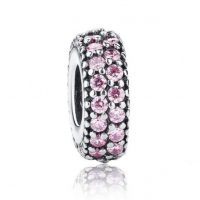 pink inspiration bead silver charn spacer