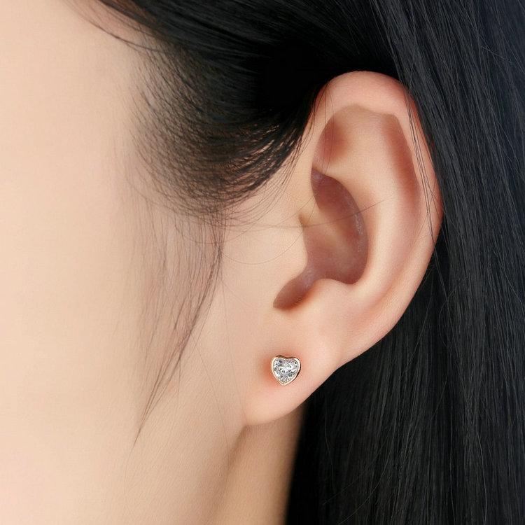 af751600d One Love Gold Heart Stud Earrings - Silver Jewellery Destiny