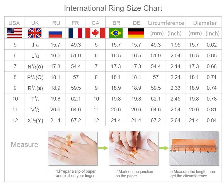 pandora ring size guide