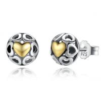Openwork heart earrings gold