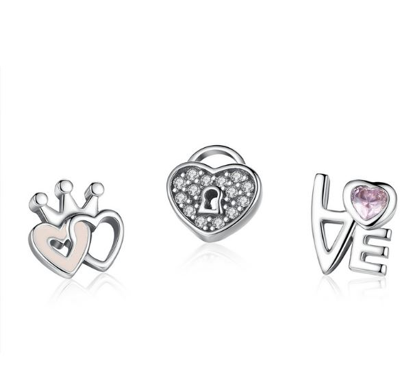 Forever Hearts Petites Locket Charm Set