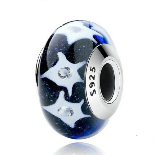 night sky murano charm bead