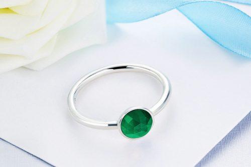 may birthstone droplet ring