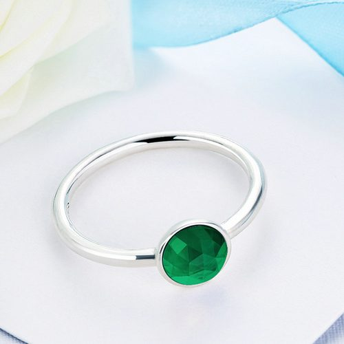 may birthstone droplet ring