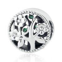 25 Sterling Silver Tree of Life Bead Charm
