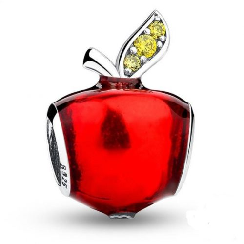 Disney, Snow White's Apple Charm, Red Enamel & Light Green CZ