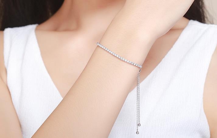 837ee998638c5 Destiny Silver Tennis Sparkling Strand Bracelet