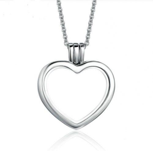 heart shaped floating locket