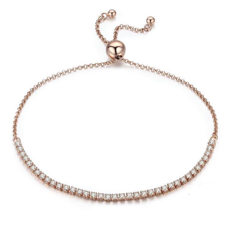 cc3ff22867b43 Destiny Rose Gold Sparkling Strand Bracelet