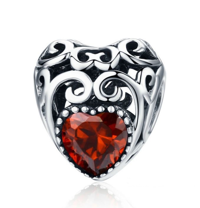 629e2c078a192 January Heart Birthstone Charm