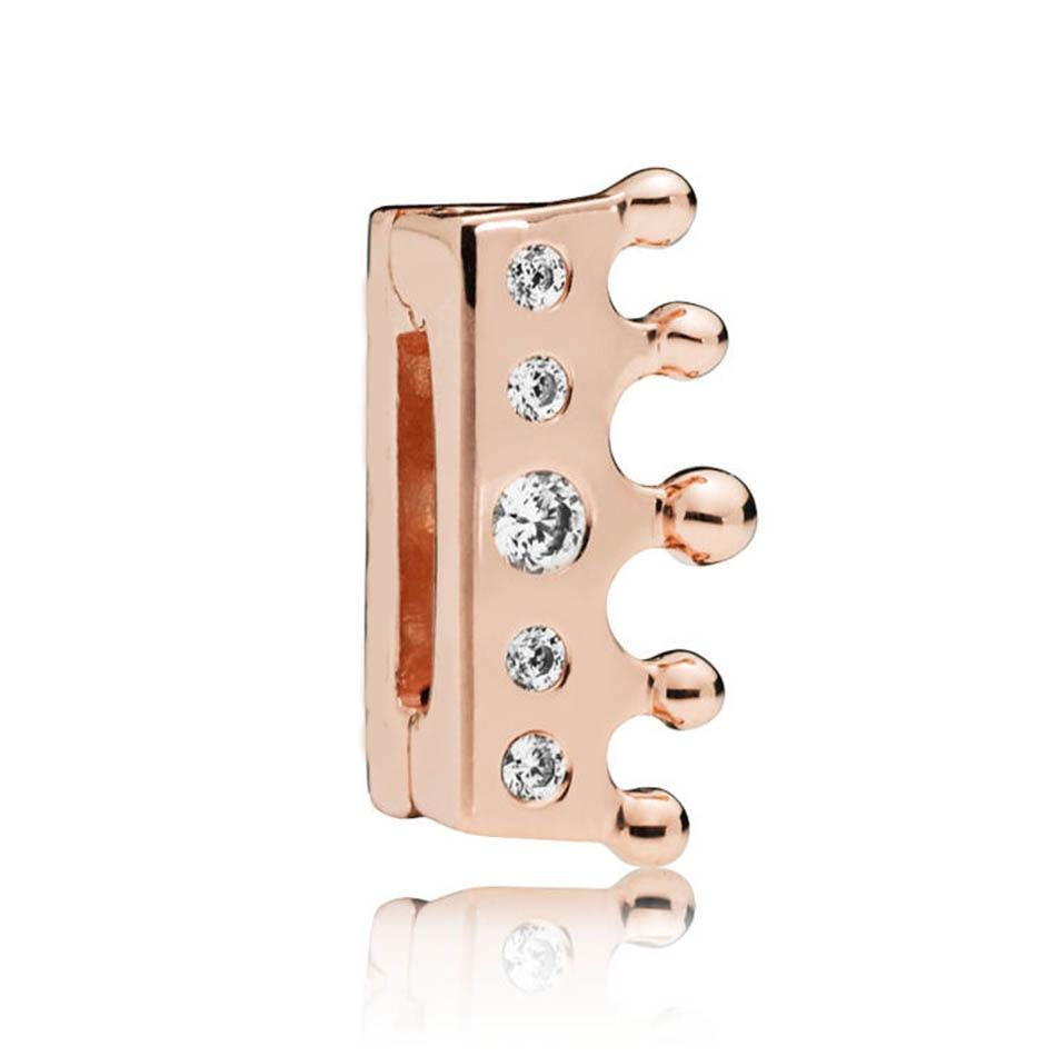67af11a54 Silver Crown Clip Charm For Reflexions Rose Gold. Comptaible With Pandora  Reflexions Bracelets