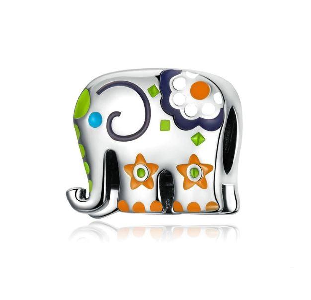 Lucky Elephant Charms Silver Fits Pandora