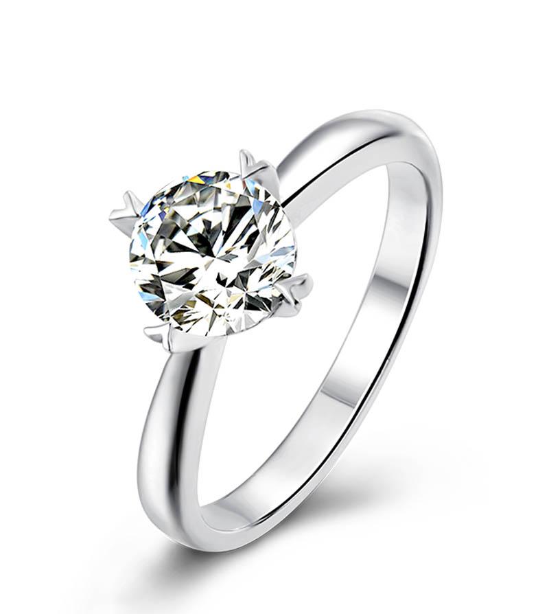Moissanite Silver Rings Uk Buy Online Huge Discounts
